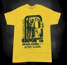 New The Doors Jim Morrison Live Long Beach CA Vintage Concert Band T-shirt