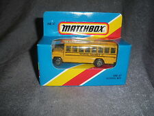 290B Vintage Matchbox 1981 MB 47 Bus School Bus School District 2 USA 1:76