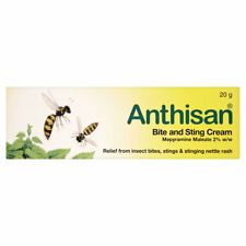 Anthisan Bite & Sting Insect Relief Children Adults Nettle Rash Cream - 20g