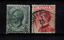Briefmarken Italien 130 - 131 gestempelt König Viktor Emanuel III.