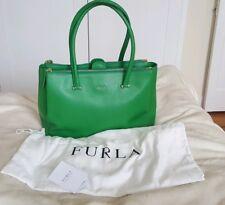 BELLISSIMO ORIGINALE FURLA in pelle verde borsetta, con sacchetto di protezione originale
