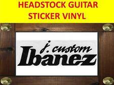 IBANEZ J. CUSTOM BLACK HEADSTOCK DECAL STICKER VISIT MY STORE CUSTOMIZED GUITAR