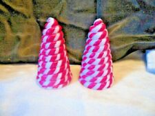 (2) 5 1/2 inch Tall Candy Cane Tree Candle (