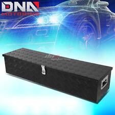"""49""""X 13""""X 10""""BLACK ALUMINUM PICKUP TRUCK TRUNK BED CAMPER TOOL BOX STORAGE+LOCK"""