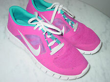 2012 Nike Free Run 3 Fusion Pink/Metallic Silver Running Shoes! Size 7Y $109.95