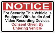 5in X 3in Audio and Video Recording Consent Sticker