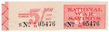 (I.B) Cinderella Collection : National War Savings 5/-
