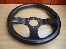 Rare leather MOMO steering wheel 30cm from Italy very small