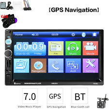 "Universal Android Bluetooth Car Stereo Radio 2 DIN 7"" GPS MP5 Player Rear Camera"