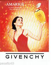PUBLICITE ADVERTISING 096  1994  Givenchy  parfum femme Amarige