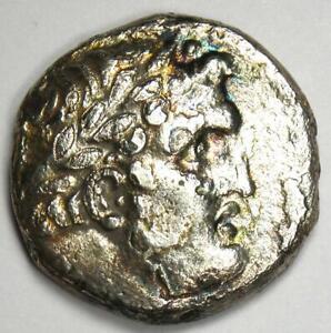 Phoenicia Tyre AR Shekel Bible Silver Coin Melkart 50 BC - Fine / VF