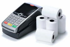 More details for 20 rolls thermal paper till rolls credit card machine worldpay ingenico 57x40mm