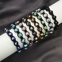 Fashion Crystal Beaded Bracelet Adjustable Braided Rope Lucky Bangle Women Gift
