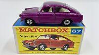 Matchbox No. 67 Volkswagen 1600 TL Superfast in Original Box