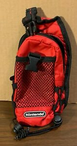 "Vintage OEM Nintendo Gameboy/DS Switch N Carry Case 4.5"" x 8"" - red/black - EUC"