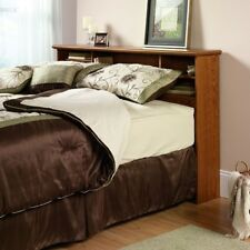 Headboard Queen Bed Wood Full Size Headboards Bookcase Rustic Storage Wooden