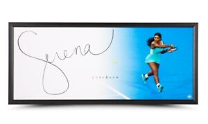 """Serena Williams Signed Autographed 20X46 Framed Photo The Show """"Backhand""""  UDA"""