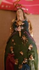Christmas Angel Green Dress With 3 Wise Men Scene New