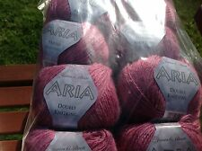 JAMES C BRETT ARIA SEQUINED DOUBLE KNITTING WOOL 500G YARN KNIT SHADE Z8 PLUMISH
