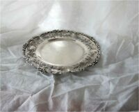 1880'S French Sterling  950 Silver Tray Hand Chased Superb Emile Delaire