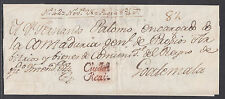 Mexico, Chiapas, Ciudad Real, 1806 Folded Letter Sheet to Guatemala, turned