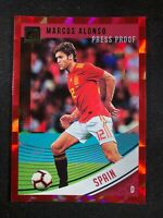 2018-19 Panini Donruss Soccer Marcos Alonso Spain Chelsea #166 Red Press Proof