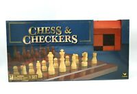 New Cardinal Game Gallery Chess & Checkers Wood Set