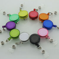 5x Retractable Reel Recoil ID Badge Lanyard Name Tags Key Card Holder Belt Clip
