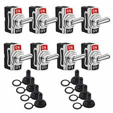 Toggle Switches 8 Pack 2 Pin On Off Spst Car Rocker Toggle Switches15a 250v 2