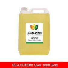 5L JOJOBA GOLDEN PURE OIL PREMIUM Cold Pressed Natural Carrier/Base 5 Litre