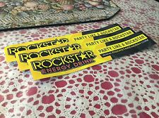 "3 New Rockstar Energy Drink 13.5""x2.5"" Bumper Stickers / Decals / Signs -- Rare"