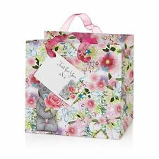 Me to You Small Floral Design Gift Wrap Bag & Tag - Tatty Teddy Bear