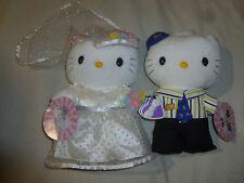 NEW MCDONALDS WEDDING SWEETHEART CREW HELLO KITTY PLUSH LOT SET 2000 SANRIO NWT