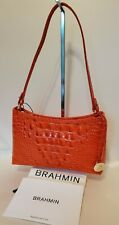 ❤️ BRAHMIN ANYTIME MINI BAG Amaryllis - Vibrant Orange Color New w Reg Card  ❤️