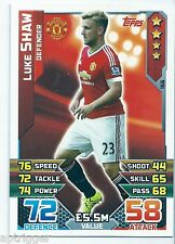 2015 / 2016 EPL Match Attax Base Card (166) Luke SHAW Manchester United