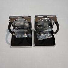 Qty 2 Stainless Steel Folding Cup Drink Holder Adjustable Marine Boat Truck RV