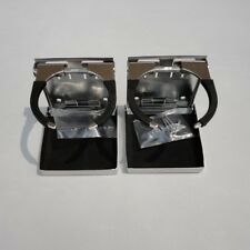 2PCS Stainless Steel Adjustable Folding Cup Drink Holder Boat Truck RV Practical