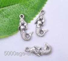 free ship 15Pcs Tibetan silver Mermaid charm pendant 22x12.6mm