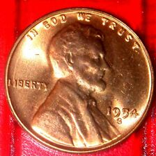 1954 S LINCOLN WHEAT CENT GEM RED BRILLIANT UNCIRCULATED