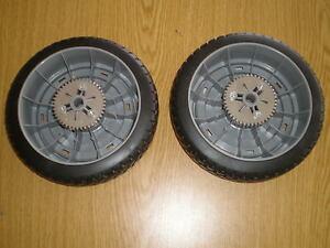 """OEM Toro  Lawnmower Rear Drive Wheels  8"""" 44-0571, 51-2744, 16-0029  (Set of 2)"""