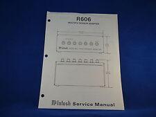 McIntosh R606 Service Manual