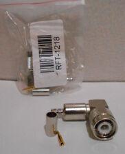 Lot of 2 New RF Industries - RFT-1218 TNC Male R/A Crimp Plug CBL GRP C.N.G.T