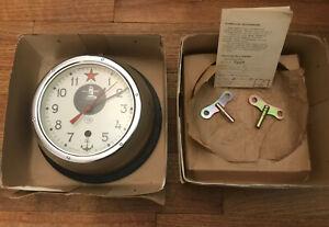 New In Box Vintage Russian Soviet CCCP Kauahguyckue Submarine Clock WORKING!!!