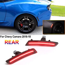 2Pcs Smoked LED Rear Side Marker Indicator Red Lights For Chevy Camaro  CN