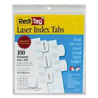 Redi-tag Laser Index Tab - Blank - 100 / Pack - Red, Blue, Mint, Orange, Yellow