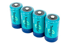 Combo: 4 pcs Tenergy C NiMH 5000mAh Rechargeable Batteries