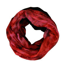 Soft Sunset Light Weight X-large Infinity Scarf Loop Cowl-Red
