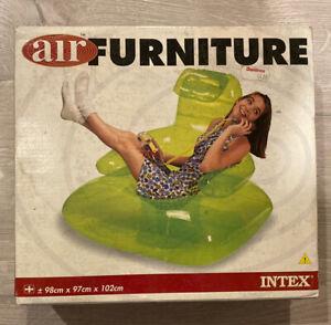 Vintage 1998 Intex Air Furniture TV Chair New Neon Green Rare 90s