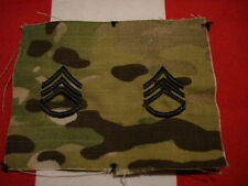 Multicam Scorpion OCP Rank SSG New Staff Sergeant Sew On Cap Set of 2 US Army