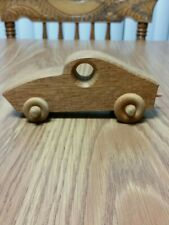 Wood Wooden Race Car Toy Vintage Handmade Item